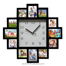 Hot sell large photo frame wall clock 2015
