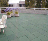 Easy to install rubber patio tile/rubber tile mold