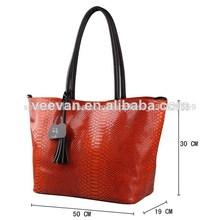 bolso de piel de serpiente real, python naranja caliente piel bolso, bolsos de cuero de patente