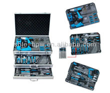 Carbon Steel 190 PC Combination Hand Tool Set With Silver Strong Case(tool kit;High Quality hand tool set)