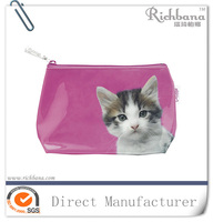 fashion hot cute cat print cosmetic bag
