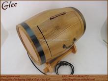 Handmade oak wood wine barrels wholesale with LED Light
