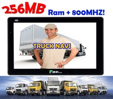 800mHz 7inch Car GPS Navigation with AVIN and Bluetooth 256MB SDRAM Truck Navi support TMC Antenna