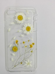 Custom Daisy Floral Real Pressed Flowers Phone Case for iPhone