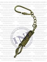 Classical Marine Keychain, Nautical Brass Keychain, Vintage Brass Keychain Replica