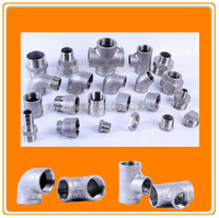 ANSI 304 316 stainless steel screwed pipe fittings, including elbow, tee, cross, union, coupling, nipple, cap,