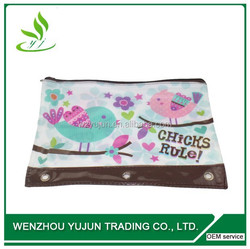 3-ring PVC alibaba supplier pencil pouch, pen pouch, pencil box new products