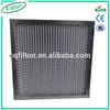 Metal Frame Glass Fiber Deep Pleat Medium Efficiency havc Air Filter Box
