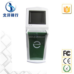 E payment Touch Screen indoor Information Shopping Mall Kiosk , Metal Keyboard