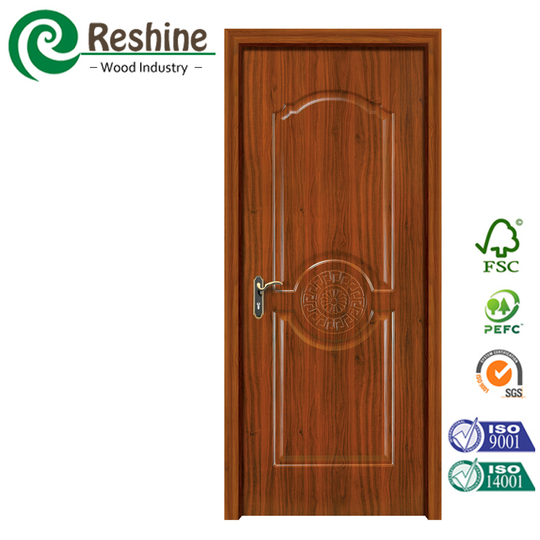 Factory delivery mahogany melamine moulded mdf door skin for Mahogany door skin