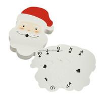 Creative- 54Sheet Genuine Swap Paper Funny Christmas Santa Claus Shape Playing Cards Poker Set Gift Christmas Entertainment Play