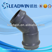 metric pvc fittings with rubber joint