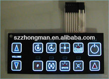 Membrane switch backlight with EL panel