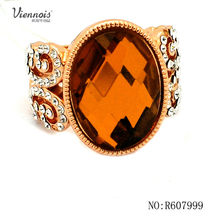 New design topaz Fashion Gold Plated Ring