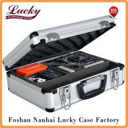 Customisable Lockable Aluminum Camera Carry Flight Case With Foam Insert