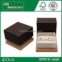 Classic jewelry rings case box with beautiful insert