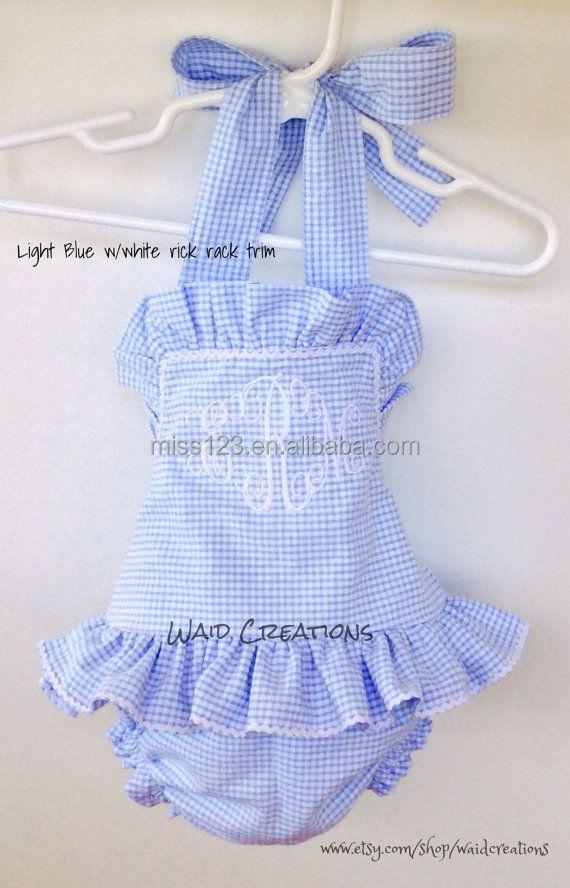Children s Gingham Seersucker Dress Gingham Clothing For