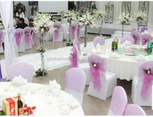 Wholesale Romantic Flower Pink Wedding Organza Sashes