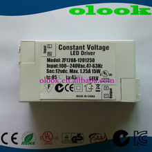 Constant Voltage 12v 15w Led Driver With Ul Ce Tuv Saa