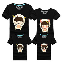 Radiant 2015 summer new short-sleeved cotton T-shirt Family fitted Family Pack lovers wholesale custom Family Matching Outfits