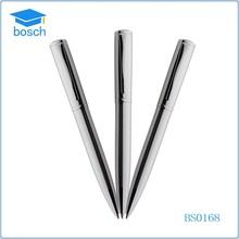 Fashion design ball pen metal ballpoint pen refill cheap silver metal pen