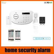 cellular GSM alarm system Iphone / Android APP , wireless home security alarm system
