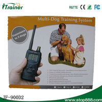 100 level with lcd display multi-dog training system for 2 dog-1000M