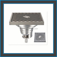 Vertical metal casting side gratings drains