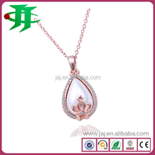 Popular Gold Plated Necklace Crown Pendant Chain Necklace