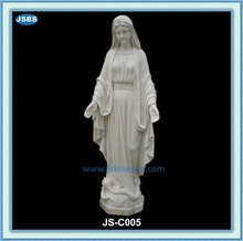 Garden Decoration Hand Carved White Marble Mary Statue