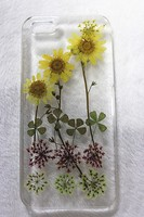 Dry pressed natural real flower phone case for iphone 6, phone case for lovers couple