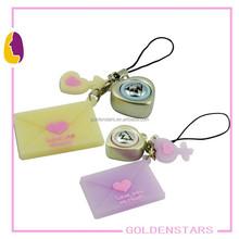 Promotion voice keychain manufacturer envelope shape music keychain led key chain/key ring for gift