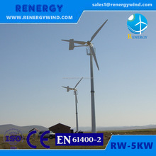 Roof mounted small wind power turbine personal generating system