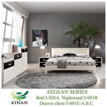Modern White Oak Beds Bedroom Furniture,King Size Leather Bed