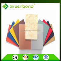 Greenbond aluminium panel building materials composite price in china