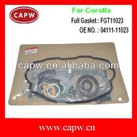 Full Engine gasket/Overhaul set/kit for Toyota Corolla Starlet Tercel 2E 04111-11023