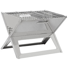 X Shaped Stainless Steel Portable Folding Charcoal BBQ Grill