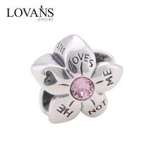 Hotsale 925 Silver Lovans Letter Charms Fits Girl Bracelet YZ761