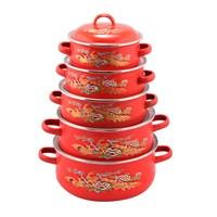 china supplier porcelain enamel cookware sets