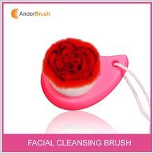 Hot sale flower design facial brush for wash face