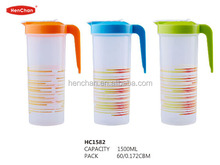 plastic water filter pitcher with stripe printing