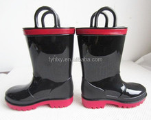 Fashion unisex child shoes shiny rain boots kid footwear