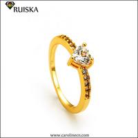 Caroline New Design Fashion Crystal Hearts Ring