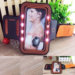 Waterproof Gym Exercise phone LED sport armband for samsung s6/s5/s4/s3 for iphone 6 5s 4s