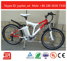 Modern style full suspension electric bike JSE76-BW
