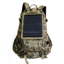 camo color outdoor solar travel bag solar hiking bags