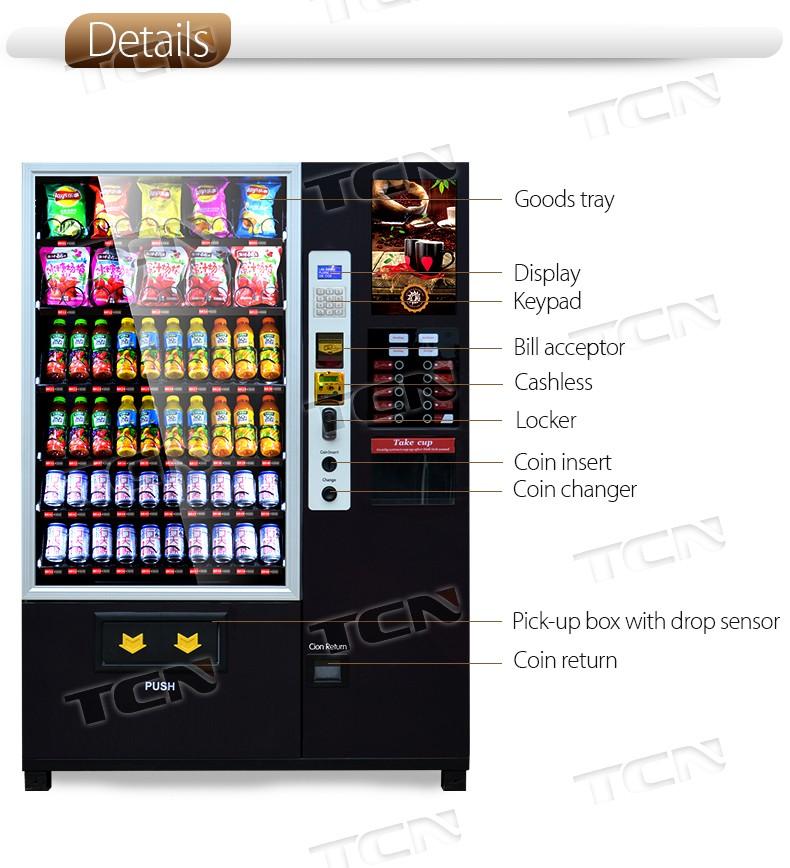 Пить закуски и Кофе Торговый Автомат монетами