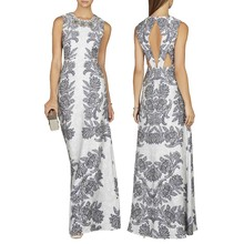 custom fashion maxi white bead dress dubai import