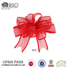 Factory wholesale outdoor red wired ribbon christmas decorative bows