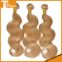2014 New Style 16 inches 2pcs/set Brazillian Human Body Weave Color #27 613Customized Order Available Remy Hair Extention